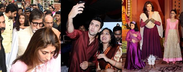 Sush, Alia, Ranbir, Kajol, & Bachchans enjoy Durga Puja