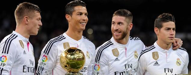 Ronaldo, Ramos, Kroos, James Bild: Getty