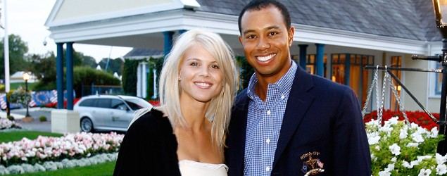 Elin Nordegren and Tiger Woods in 2006. (David Cannon/Getty Images)