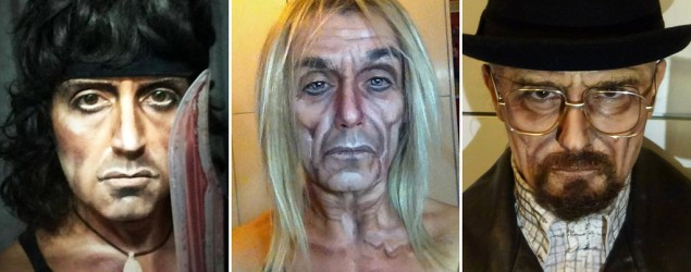 Makeup artist's incredible transformations (Lucia Pittalis/Broken News Daily)