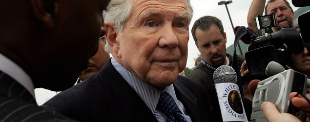 "Televangelist Pat Robertson calls gay rights activists ""terrorists."" (Getty Images)"