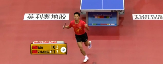 Table tennis champ's costly victory celebration
