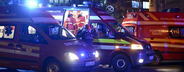 Romanian interior minister says explosion in Bucharest club kills many. (Reuters)