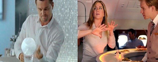 Leonardo Di Caprio y Jennifer Aniston (Foto tomada del artículo)