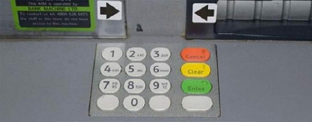 An ATM machine