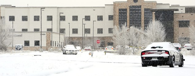 A Planned Parenthood clinic in Colorado Springs where three people were killed by a gunman. (Daniel Owen/The Gazette/AP)