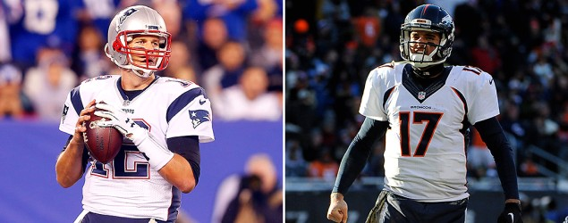 Tom Brady and Brock Osweiler. (Getty Images)