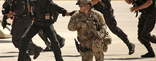 U.S. special operations forces conduct an exercise in Amman, Jordan on June 20, 2013. (Maya Alleruzzo/AP)