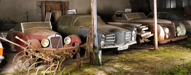 Sixty classic European cars have been unearthed after 50 years