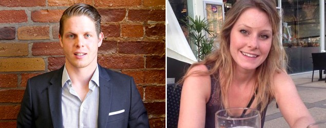 Jordan Axani needed to find a Canadian woman with the same name as his ex-girlfriend to take on a trip around the world. (Jordan Axani/Facebook, Elizabeth Quinn Gallagher/Twitter)