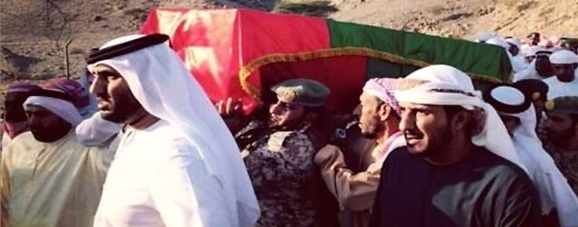 Emirati pilots funeral (Supplied)