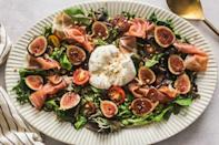 """<p>Finding figs at the market is a sign that fall is about to begin, but they're only around for a short time so grab 'em while you can! Serve them with burrata and maple vinaigrette for a classy appetizer.</p><p><strong>Get the recipe at <a href=""""https://britneybreaksbread.com/fig-and-burrata-salad-with-maple-vinaigrette/"""" rel=""""nofollow noopener"""" target=""""_blank"""" data-ylk=""""slk:Britney Breaks Bread"""" class=""""link rapid-noclick-resp"""">Britney Breaks Bread</a>.</strong></p><p><a class=""""link rapid-noclick-resp"""" href=""""https://go.redirectingat.com?id=74968X1596630&url=https%3A%2F%2Fwww.walmart.com%2Fsearch%2F%3Fquery%3Dmeasuring%2Bcup&sref=https%3A%2F%2Fwww.thepioneerwoman.com%2Ffood-cooking%2Fmeals-menus%2Fg36806222%2Ffall-salad-recipes%2F"""" rel=""""nofollow noopener"""" target=""""_blank"""" data-ylk=""""slk:SHOP MEASURING CUPS"""">SHOP MEASURING CUPS</a></p>"""