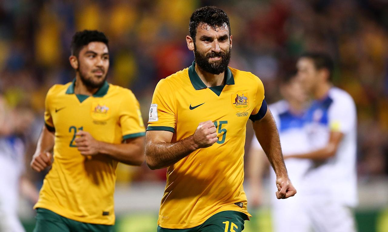 Mile Jedinak last appeared in a Socceroos shirt in the World Cup qualifying win over Saudi Arabia in June.