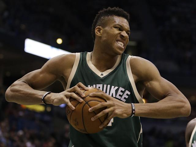 Giannis Antetokounmpo has seized his opportunity to make a leap this season. (AP)