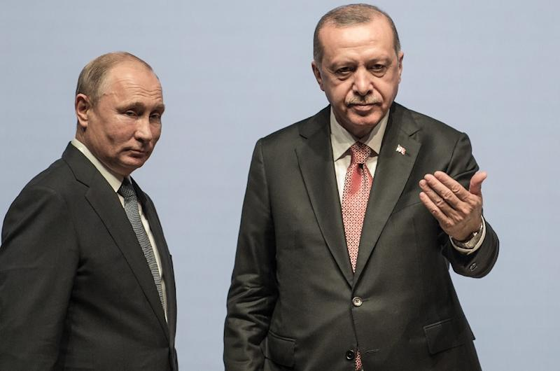 Erdogan Arrives In Moscow For Syria Talks With Putin