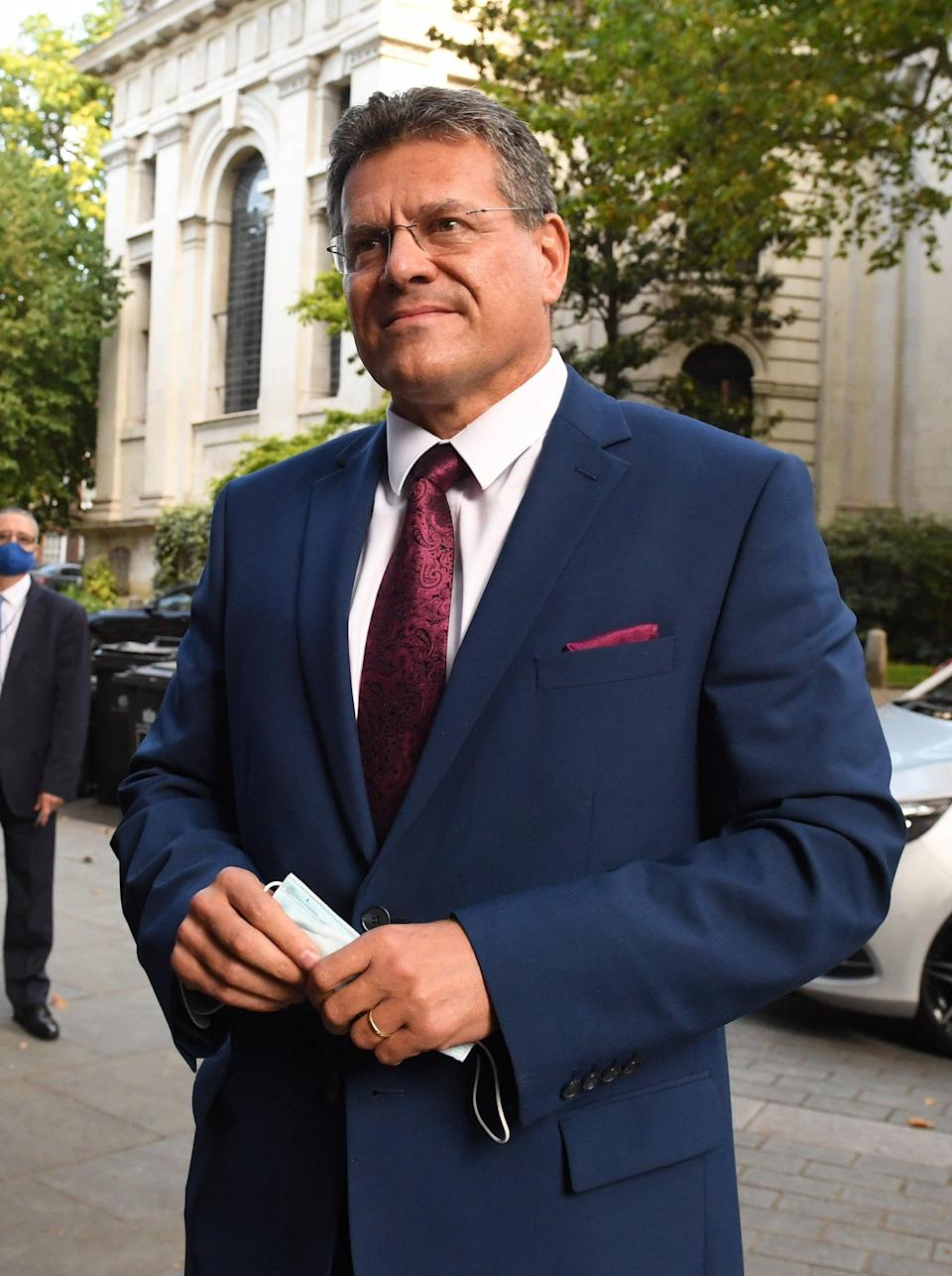 Maros Sefcovic, European Commission vice president (Stefan Rousseau/PA) (PA Wire)