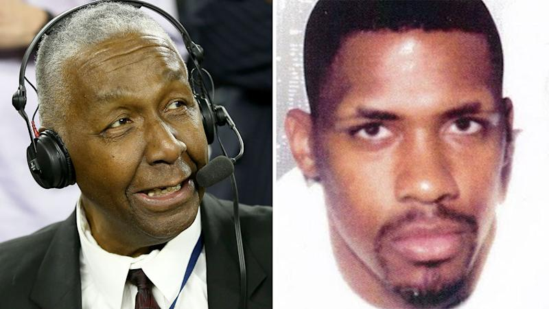 John Thompson is pictured on the left and a mugshot of notorious drug kingpin Rayful Edmond on the right.