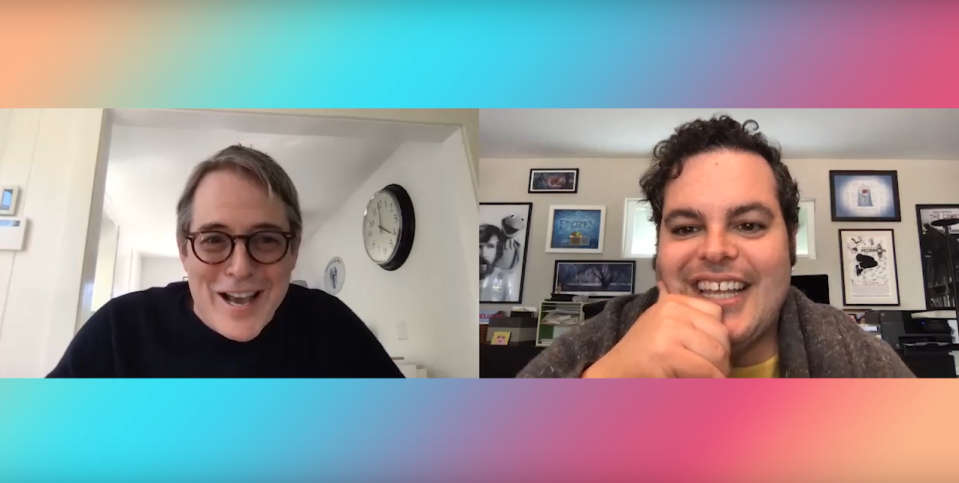 Broderick and Gad on Reunited Apart (Credit: YouTube)