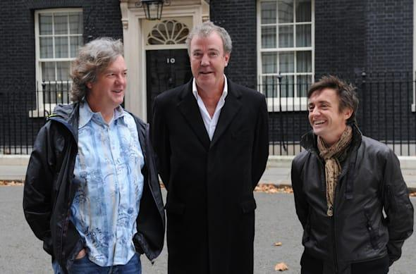 Top Gear film in Downing Street - London