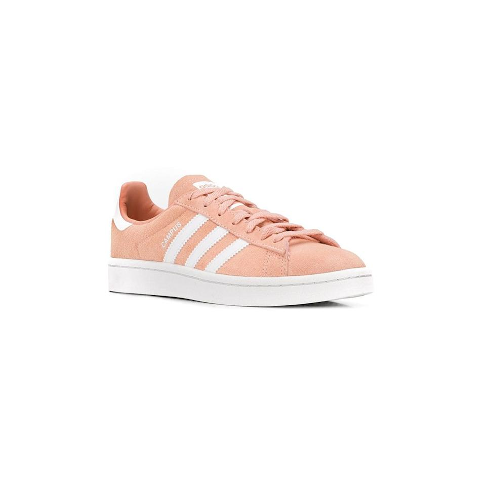 """<p>We know you love your old Adidas, but it may be time to retire those frayed everyday kicks for a fresh pair. These athleisure sneakers are ideal for cushioning your feet on long strolls.</p> <p><strong>Buy it:</strong> $58 (originally $96), <a href=""""https://www.farfetch.com/shopping/women/adidas-campus-sneakers-item-13543980.aspx?storeid=9843"""" rel=""""nofollow"""">farfetch.com</a></p>"""