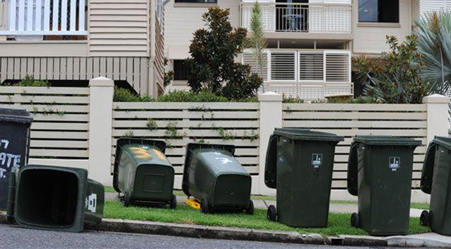 Some Queensland residents are at risk of receiving the hefty fine if they continuously leave their bins in the street. Source: AAP