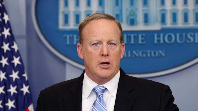 Former White House press secretary Sean Spicer said he regrets his first move in his old job working under President Donald Trump.