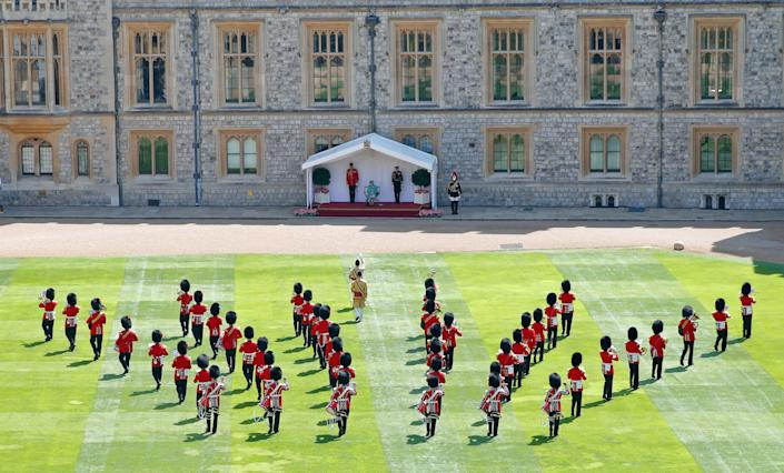 The Queen's official birthday was held at Windsor Castle this year. (Getty Images)