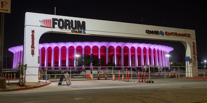 "The Forum in Inglewood, California. <p class=""copyright"">RBL/Bauer-Griffin via Getty Images</p>"