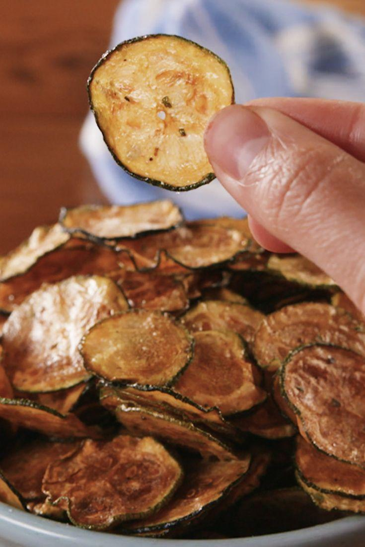 """<p>Ranch-tastic!</p><p>Get the recipe from <a href=""""https://www.delish.com/cooking/recipe-ideas/a22344312/cool-ranch-zucchini-chips/"""" rel=""""nofollow noopener"""" target=""""_blank"""" data-ylk=""""slk:Delish"""" class=""""link rapid-noclick-resp"""">Delish</a>. </p>"""