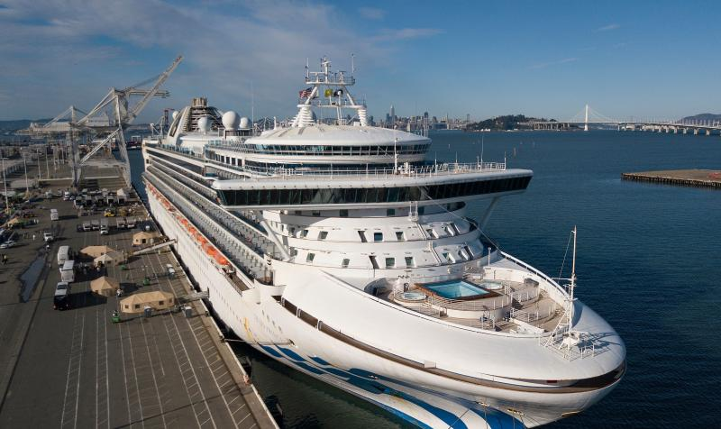Passengers disembarked from the Grand Princess cruise ship at the Port of Oakland March 10, then boarded buses to head to quarantine.In the wake of coronavirus, many cruise lines are offering relaxed cancellation policies. (Photo: JOSH EDELSON/AFP via Getty Images)