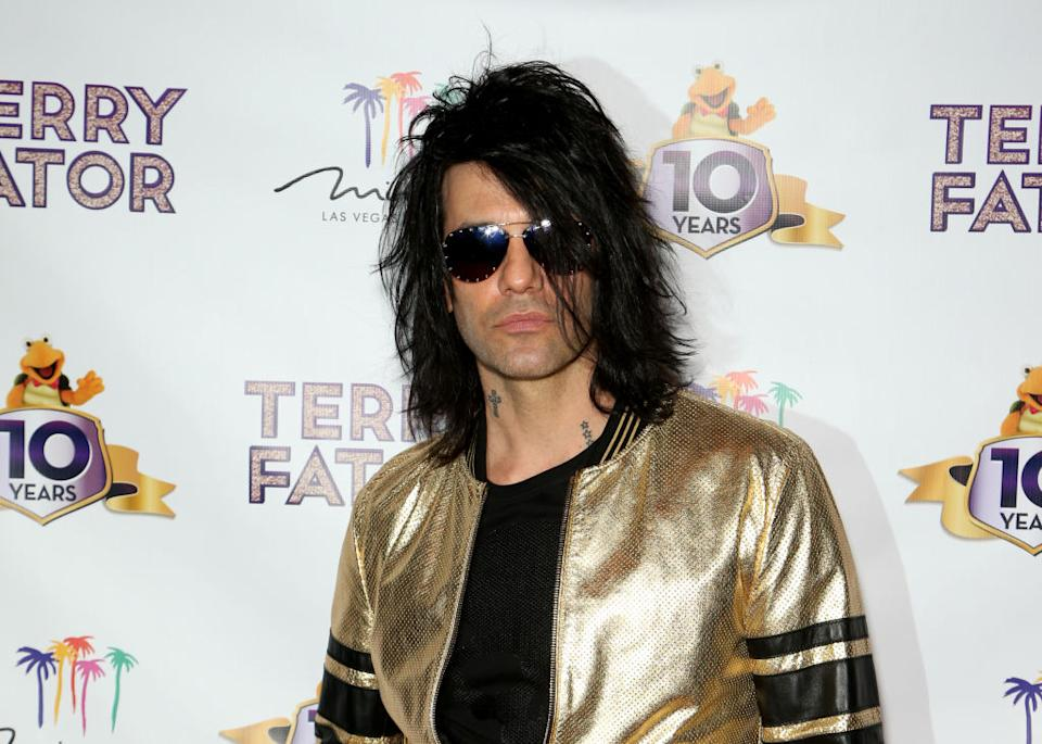 Criss Angel attends Terry Fator's 10th anniversary show at The Mirage Hotel and Casino on March 15 in Las Vegas. (Photo: Gabe Ginsberg/Getty Images)