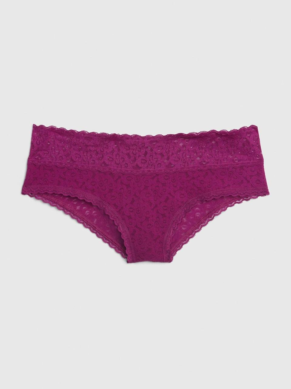 <p>Mix and match tones by pairing it with this <span>Gap Lace Cheeky</span> ($8)!</p>