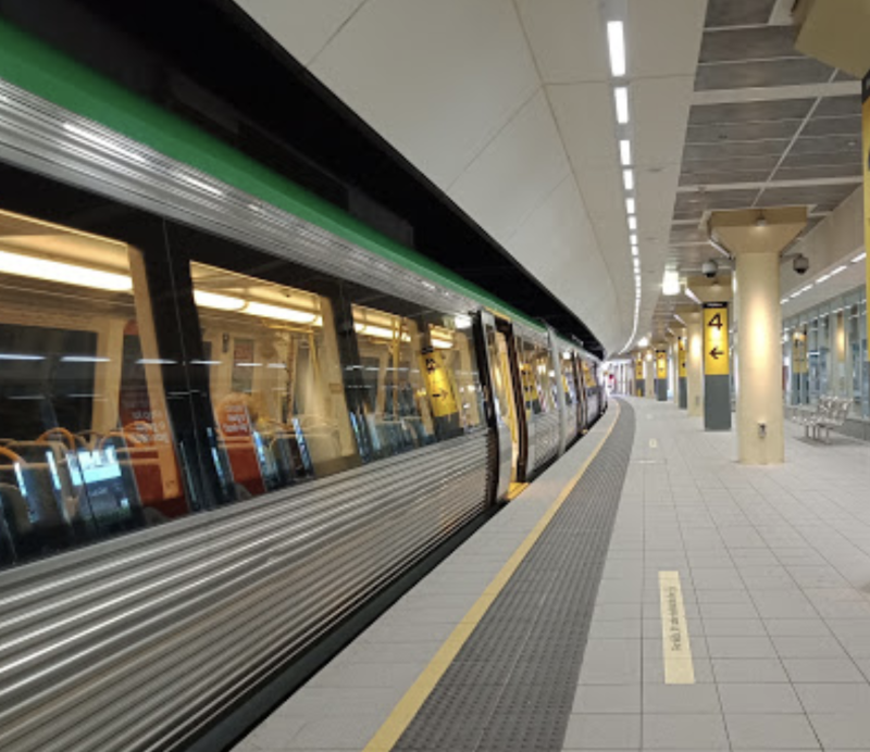 The heated confrontation unfolded at a train station in Perth on Wednesday. Source: Google Maps