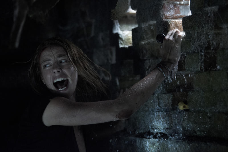 Kaya Scodelario battles the elements, and alligators, in Alexandre Aja's 'Crawl'. (Credit: Paramount)