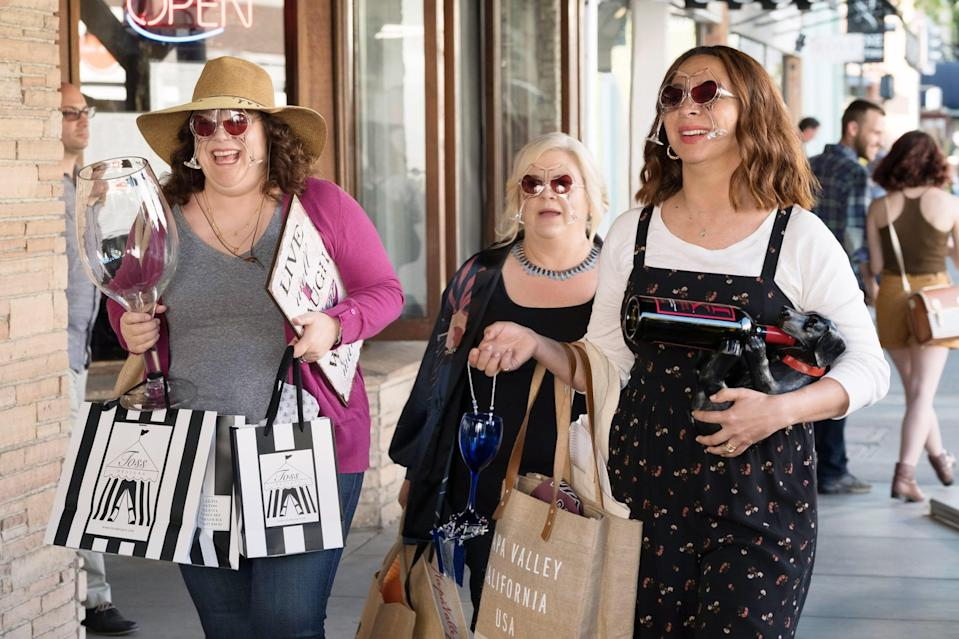"""<p>This Netflix gem stars your favorite <strong>SNL</strong> ladies as a group of friends who head to Napa Valley for one of their own's 50th birthday party. While it's more about these women's friendships above all else, we also get a fun romance between Paula Pell (<strong>Sisters</strong>) and Maya Erskine (<strong><a class=""""link rapid-noclick-resp"""" href=""""https://www.popsugar.com/latest/PEN15"""" rel=""""nofollow noopener"""" target=""""_blank"""" data-ylk=""""slk:Pen15"""">Pen15</a></strong>) in <a class=""""link rapid-noclick-resp"""" href=""""https://www.popsugar.com/Amy-Poehler"""" rel=""""nofollow noopener"""" target=""""_blank"""" data-ylk=""""slk:Amy Poehler"""">Amy Poehler</a>'s directorial debut.</p> <p><a href=""""http://www.netflix.com/title/80194950"""" class=""""link rapid-noclick-resp"""" rel=""""nofollow noopener"""" target=""""_blank"""" data-ylk=""""slk:Watch Wine Country on Netflix now"""">Watch <strong>Wine Country</strong> on Netflix now</a>.</p>"""