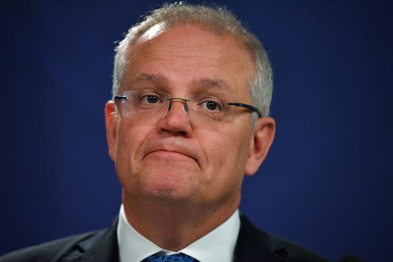 Scott Morrison has been criticised by large parts of the Australian population for taking a holiday during a national crisis. Source: AAP