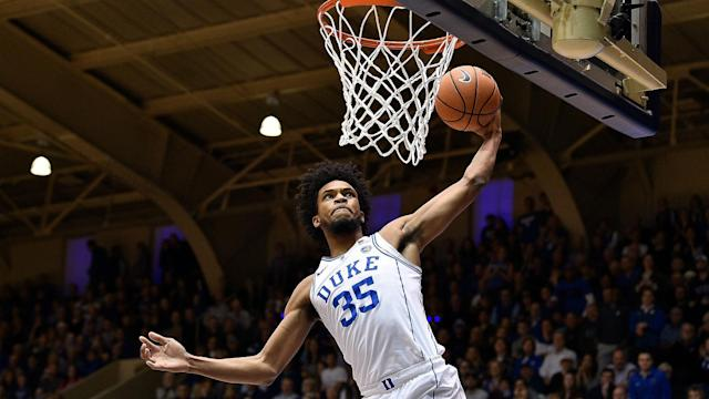 Duke's Marvin Bagley III is the ACC's leading scorer and rebounder, but still faces a litany of question marks regarding his NBA potential on both sides of the ball. (AP)