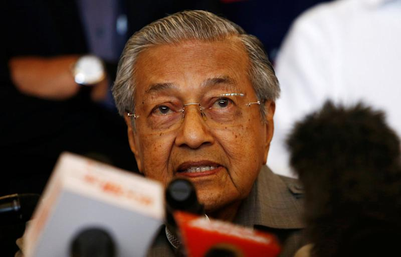 Tun Dr Mahathir Mohamad speaks during a news conference following the general election in Petaling Jaya May 10, 2018. — Reuters pic