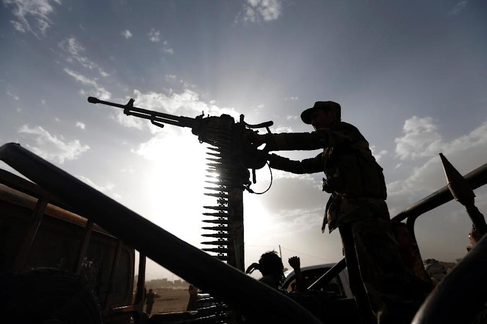 A Yemeni colonel loyal to former president Ali Abdullah Saleh has been killed in clashes with rebels, Saleh's party said, in an unprecedented escalation of violence between the two allies (AFP Photo/MOHAMMED HUWAIS)