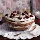 """<p>We've fused two retro desserts to make one showstopper!</p><p><strong>Recipe: <a href=""""https://www.goodhousekeeping.com/uk/food/recipes/a561066/black-forest-trifle-561066/"""" rel=""""nofollow noopener"""" target=""""_blank"""" data-ylk=""""slk:Black forest trifle"""" class=""""link rapid-noclick-resp"""">Black forest trifle</a></strong></p>"""
