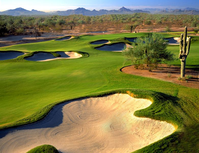 This undated image released by The JW Marriott Desert Ridge shows the golf course at the Wildfire Golf Club in Phoenix, Ariz. Twenty years ago, many Phoenix-area resorts shut down for the summer because of the heat, but now substantial deals are offered that attract locals and tourists alike. (AP Photo/The JW Marriott Desert Ridge)