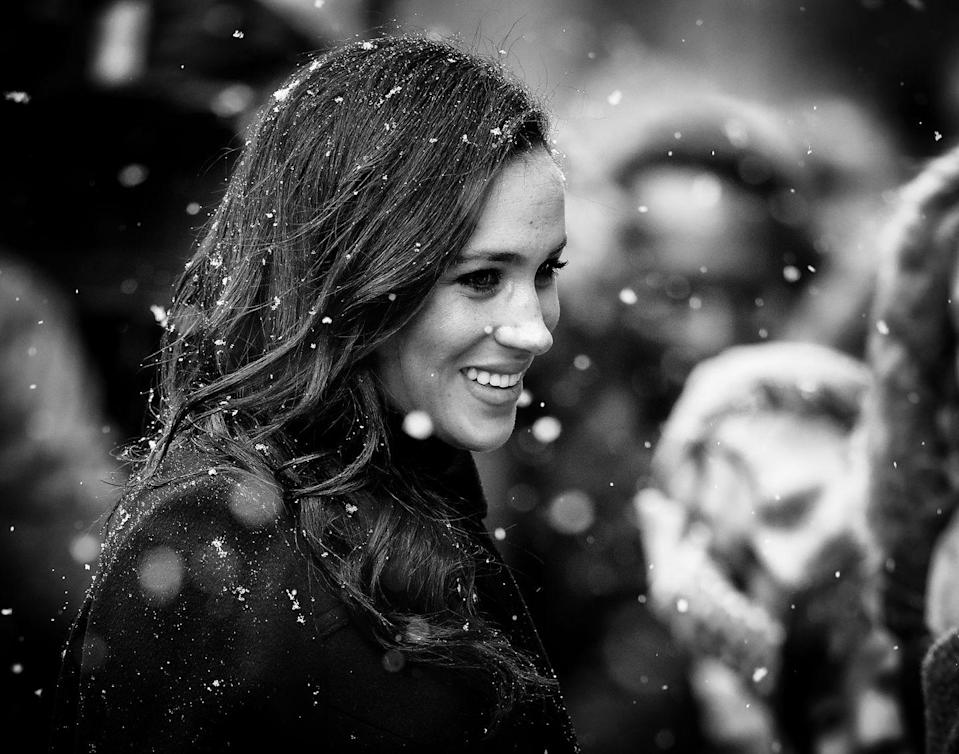<p>In early February, Harry and Meghan made a snowy visit to Bristol.</p>