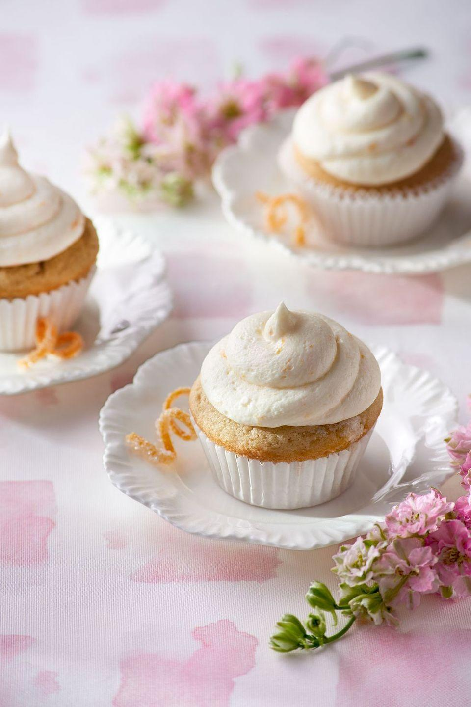 """<p>For a more subtle treat, infuse cake batter with steeped Lady Grey tea for a post-dinner caffeine boost. </p><p><em><a href=""""https://www.countryliving.com/food-drinks/recipes/a37732/lady-grey-cupcakes-with-orange-zest-frosting-recipe/"""" rel=""""nofollow noopener"""" target=""""_blank"""" data-ylk=""""slk:Get the recipe from Country Living »"""" class=""""link rapid-noclick-resp"""">Get the recipe from Country Living »</a></em><em><strong><a href=""""https://www.goodhousekeeping.com/holidays/easter-ideas/g2353/easter-dinner-menus/"""" rel=""""nofollow noopener"""" target=""""_blank"""" data-ylk=""""slk:"""" class=""""link rapid-noclick-resp""""><br></a></strong></em></p><p><strong>RELATED:</strong> <a href=""""https://www.goodhousekeeping.com/holidays/easter-ideas/g2353/easter-dinner-menus/"""" rel=""""nofollow noopener"""" target=""""_blank"""" data-ylk=""""slk:60 Mix-and-Match Easter Dinner Menus"""" class=""""link rapid-noclick-resp""""> 60 Mix-and-Match Easter Dinner Menus</a><br></p>"""