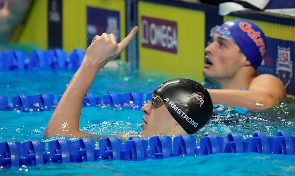 Ohio State swimmer Hunter Armstrong officially an Olympian for U.S.A.