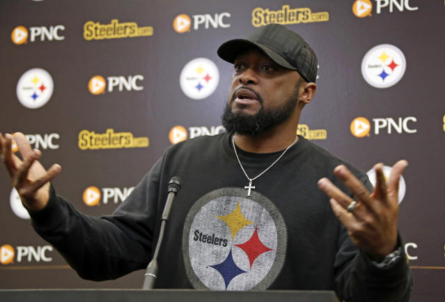 Mike Tomlin and the Steelers will have to wait another year for a shot to avenge an AFC title game loss to the Patriots. (AP)