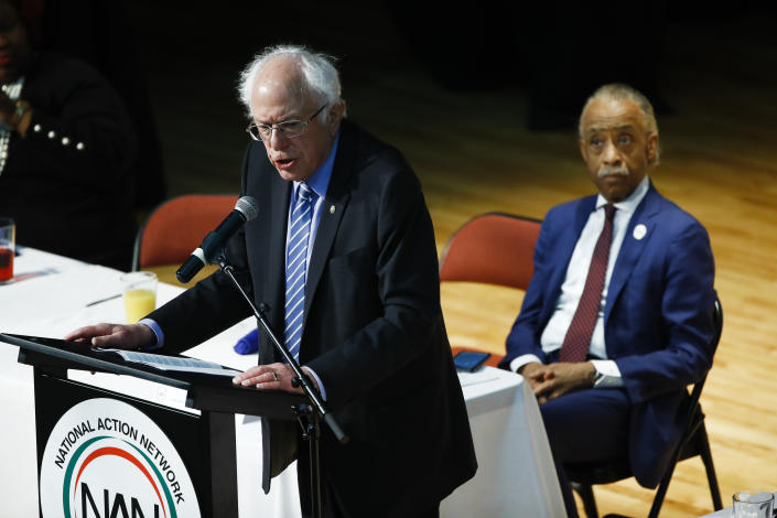 Al Sharpton with Bernie Sanders