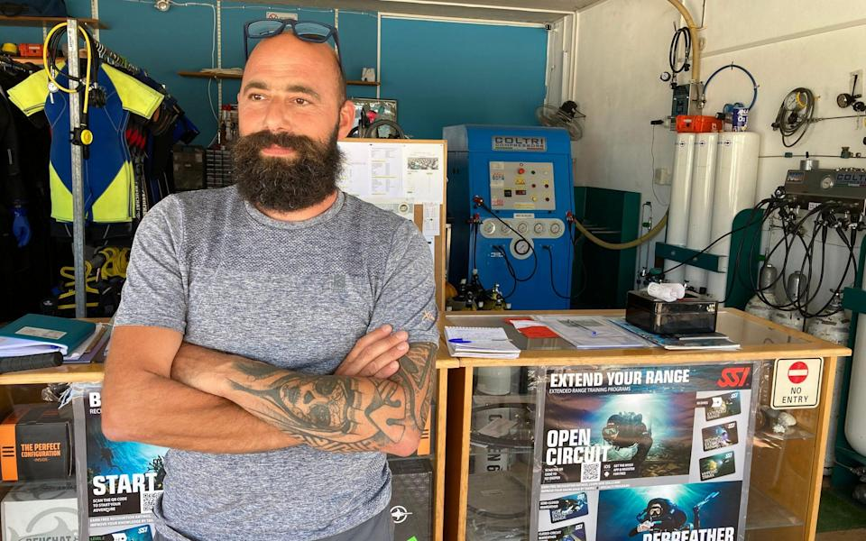 Diving instructor Julio Halal sees many exotic fish species in Cypriot waters - Nick Squires