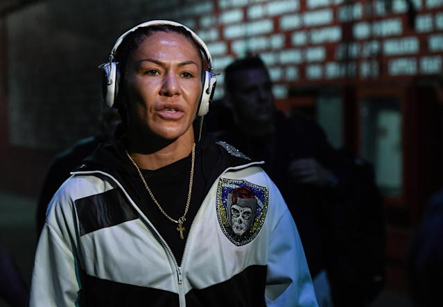 Cris Cyborg is looking to add a fourth world title to her prolific MMA résumé. (Brandon Magnus/Zuffa LLC via Getty Images)