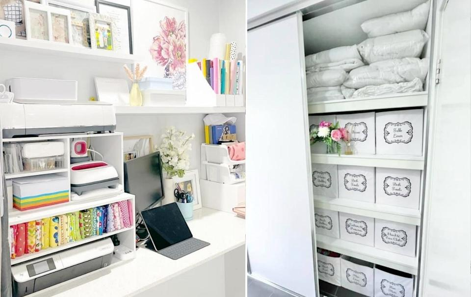 Organised home with white containers