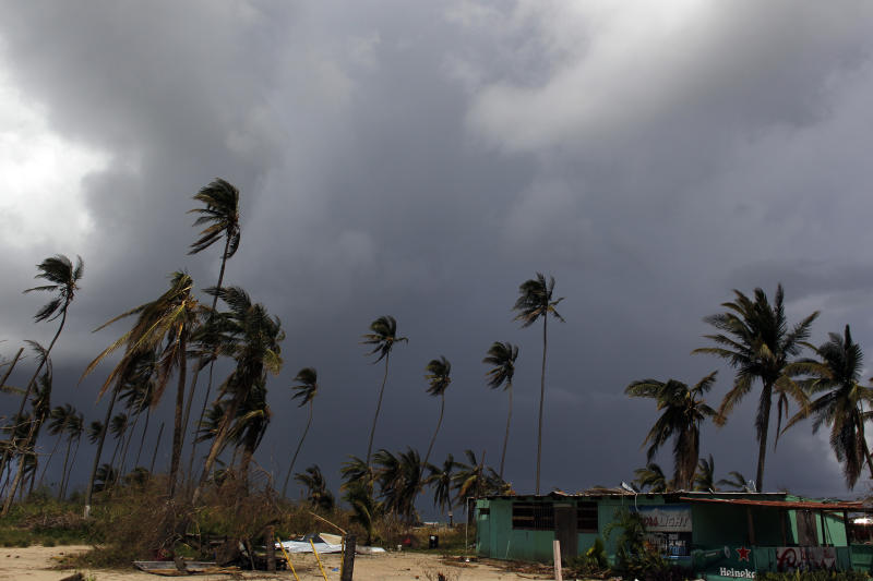 More storm clouds move in after Hurricane Maria in Loiza, Puerto Rico. (RICARDO ARDUENGO/AFP via Getty Images)